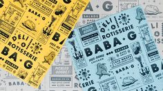 Johannesburg based, Tutto Food Co. approached us to create the brand identity for their new restaurant, Baba G. Named after the Middle Eastern aubergine dish babaganoush, Baba G is a small rotisserie deli focusing on street food with a fusion of Afro-Medi…