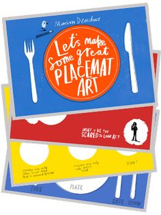Tools for Keeping Kids happy at restaurants - dover sticker books, placemat art.