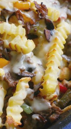 Loaded Philly Cheesesteak Skillet Fries