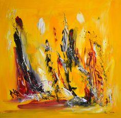 Détente sous le soleil - peinture abstraite au couteau à peindre - 700 € http://www.amesauvage.com