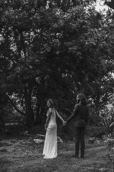 Intimate, Bohemian Wedding in A Meadow - Bridal Musings Wedding Blog-dress