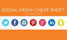 Facebook, Google+, Twitter, Pinterest, LinkedIn, Snapchat, Instagram — #SocialMedia Cheat Sheet For Brands - #Infographic