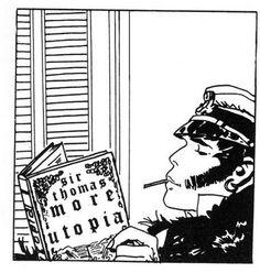 Corto Maltese, by Hugo Pratt Comics Toons, Bd Comics, Manga Comics, Comic Book Characters, Comic Books Art, Fantasy Characters, Book Art, Maltese, Hugo Pratt