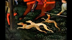 Paolo Uccello detail of The Hunt in the Forest - Ashmolean Museum, Oxford by Hans Ollermann, via Flickr
