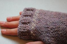Knitted fingerless gloves wrist warmers by MeadowCraftsUK on Etsy