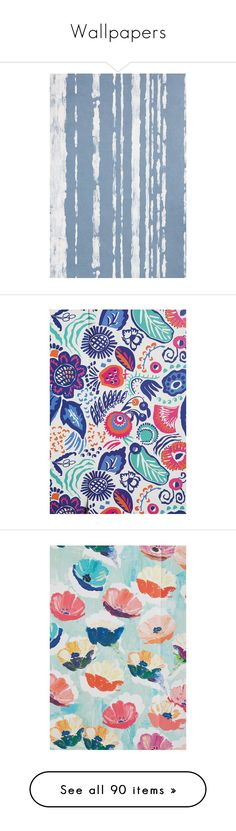 """""""Wallpapers"""" by kellylynne68 ❤ liked on Polyvore featuring home, home decor, wallpaper, anthropologie, anthropologie wallpaper, anthropologie home decor, bird wallpaper, flamingo home decor, flamingo wallpaper and cole son wallpaper"""
