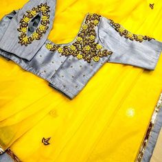 All Ethnic Customization with Hand Embroidery & beautiful Zardosi Art by Expert & Experienced Artist That reflect in Blouse , Lehenga & Sarees Designer creativity that will sunshine You & your Party Worldwide Delivery. Patch Work Blouse Designs, Hand Work Blouse Design, Simple Blouse Designs, Stylish Blouse Design, Fancy Blouse Designs, Bridal Blouse Designs, Blouse Neck Designs, Cut Work Blouse, Blouse Patterns