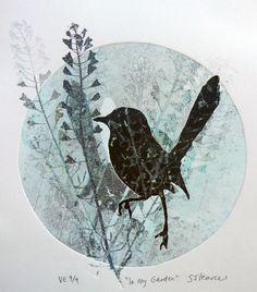 Title: In my Garden Medium: Monotype, Variable Edition of 9 Artist: Sandra Pearce www.sandrapearce.com.au