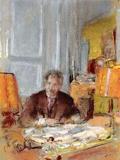 Portrait of Philippe Berthelot-c.1928 by Edouard Vuillard