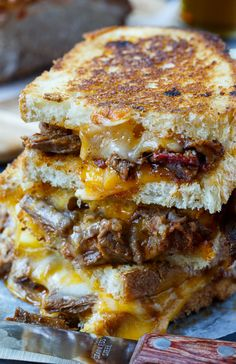 "verticalfood: "" Brisket Grilled Cheese """