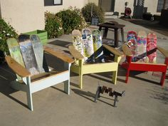 Adirondack+Chairs+using+repurposed+skateboards+by+TheBoardWorx,+$150.00