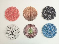 Meredith Woolnough is Australian visual artist who creates intricate embroidered tracings resembling the original art of nature.