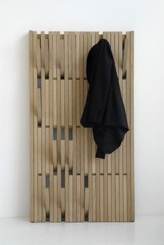 I just fell head over heels in love with a coat rack. The Piano Hanger is making me swoon. It was designed by Patrick Seha for the Belgian company Feld. What I love most about the Piano Hanger is t… Coat Hanger, Coat Hooks, Peg Hooks, Hanger Hooks, Wall Hanger, Wall Hooks, Garderobe Design, Home Furniture, Furniture Design