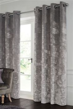 Buy Textured Velvet Eyelet Curtains from the Next UK online shop