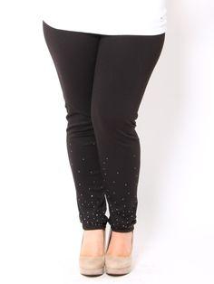Rhinestone Studded Leggings - Plus Size - Plus Size #STYLESFORLESS#SFLSummerLove