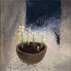 """""""Candlemas"""" by Winifred Nicholson, (This ancient festival takes place on 2 February and marks the midpoint of winter, halfway between the shortest day and the spring equinox. Botanical Illustration, Illustration Art, Illustrations, Winifred Nicholson, Painting & Drawing, Still Life, Fine Art, Abstract, Artwork"""