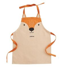 Fall in love with this charming Mr Fox apron. Its perfect for children who like baking, painting & getting messy. Check out our childrens aprons here. Sewing For Kids, Baby Sewing, Great Little Trading, Childrens Aprons, Mr Fox, Cute Aprons, Sewing Aprons, Apron Designs, Kids Apron