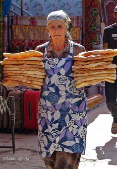 Bread at Khorog market, Gorno-Badakhshan, Pamir Highway, Tajikistan   Flickr - Photo Sharing!