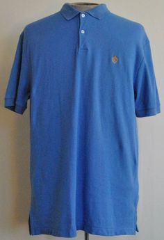 Lauren By Ralph Lauren Shirt M Polo Rugby Short Sleeve Blue Solid 100% Cotton #LaurenByRalphLaren #PoloRugby