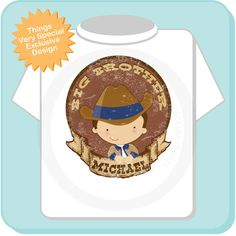 Big Brother Shirt Personalized Cowboy Tee by ThingsVerySpecial