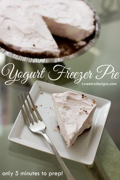 5-Minute Freezer Pie | What an easy dessert recipe! I'd definitely garnish it with some fruit on top!
