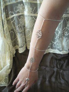 Unique silver slave bracelet arm band by NarjisDesigns on Etsy, $18.00