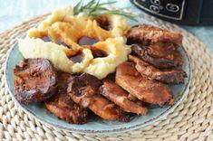 Cotlet de porc la slow cooker Crock-Pot Digital - Retete culinare by Teo's Kitchen Bun Burger, Pots, Crockpot, Slow Cooker, Sausage, Bacon, Cheesecake, Chicken, Meat