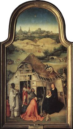 ❤ - HIERONYMUS BOSCH (1450 - 1516) - The Epiphany - The Adoration of the Magi (central panel). Prado Museum.