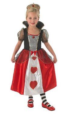 Child Queen Of Hearts Fancy Dress Costume Princess Alice in Wonderland Kids d40676f414f
