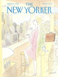 "The New Yorker - Monday, April 10, 1989 - Issue # 3347 - Vol. 65 - N° 8 - Cover by : ""Sempé"" - Jean-Jacques Sempé"