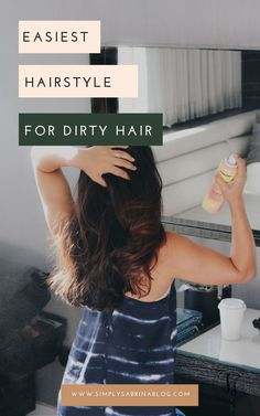 This is by far the easiest hairstyle for dirty hair.  Bonus: It works every time.
