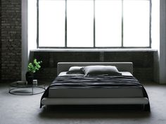 Double bed with upholstered headboard Avalon Collection by Living Divani   design Eero Koivisto, Claesson Koivisto Rune