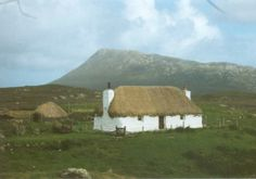 Black-house with Eaval in the background.