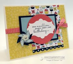 Stampin up demonstrators blog punch catalog order online birthday card idea big shot machine