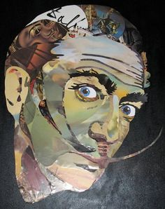 Salvador Dali Portrait with parts of his artworks. von Iri5