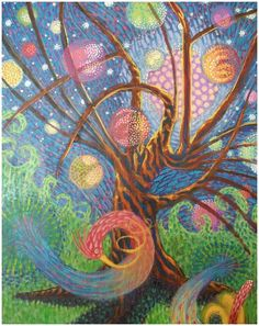 "Cosmos Tree, a painting by a1wend1l of deviantart.com; ""Adam Aldrich"""