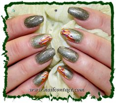 Silver Edition, Magnet Gel Army Shadow, 5ml Art.Nr.: SET14, Silver Edition, Magnet Gel Army Green, 5ml Art.Nr.:SET15 mit Chrome Folie, Peaches 20 cm Art.Nr.:90548 — hier: Nail Contact, Www.Nailcontact.Com.