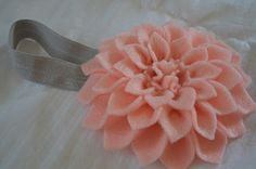 I have been making headbands lately for my little girl - would love this for myself!  Pinner says: DIY Flower Headband