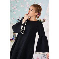 5fc8bb056ed5 Φόρεμα Black Flowers Cream Tassels - Petit Boutik