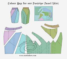 Pattern Puzzle - Pinstripe Panel Skirt