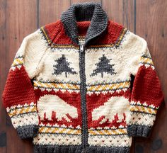 Yarnspirations is the spot to find countless free easy crochet patterns, including the Patons True North Knit Jacket, XS/S. Baby Pullover, Nordic Pullover, Nordic Sweater, Baby Boy Knitting, Knitting For Kids, Pull Crochet, Knit Crochet, Crochet Rope, Crochet Motif