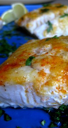 Baked Lemon Cod - What's Gaby Cooking OMG My son thought it taste just like lobster! So delicious! I would not say this is healthy with all th butter! Fish Dinner, Seafood Dinner, Seafood Recipes, Cooking Recipes, Healthy Recipes, Cooking Ham, Fish Recipes Gluten Free, Cooking Broccoli, Cooking Beets