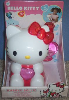 56135217b hello kitty bubble bellie TOY age 3-up BATTERY OPERATED SPILL resistant
