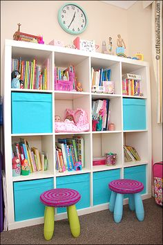 Expedit Shelving Unit and Drona Boxes from Ikea