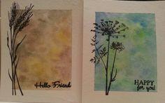 Watercolor + Stamping