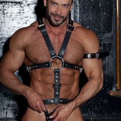 Andrew Christian, Leather Harness, Leather Men, Pretty Men, Gorgeous Men, Eye Candy Men, Do Men, Underwear, Mature Men