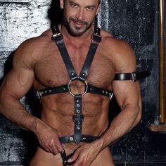 Andrew Christian, Leather Harness, Leather Men, Pretty Men, Gorgeous Men, Eye Candy Men, Do Men, Fantasy Male, Underwear