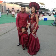 Ruby is the colour of the day African Wedding Attire, African Attire, African Wear, African Weddings, Zulu Traditional Wedding Dresses, African Traditional Dresses, African Dresses For Women, African Fashion Dresses, Xhosa Attire