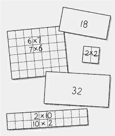 Multiplication Array cards - perfect for teaching my visual/spatial and bodily/kenisthetic learners!