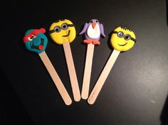 Bookmarks made with silk clay.